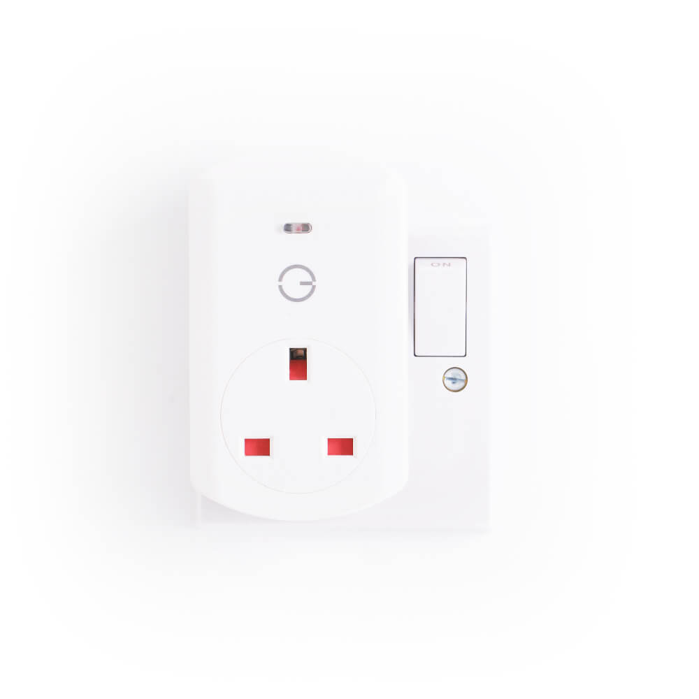 Front View of Smart Plug in socket