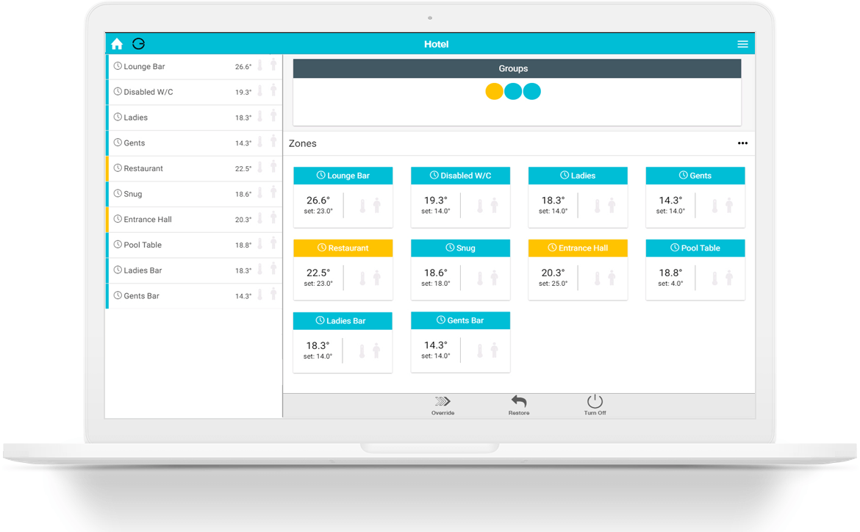 Laptop with App