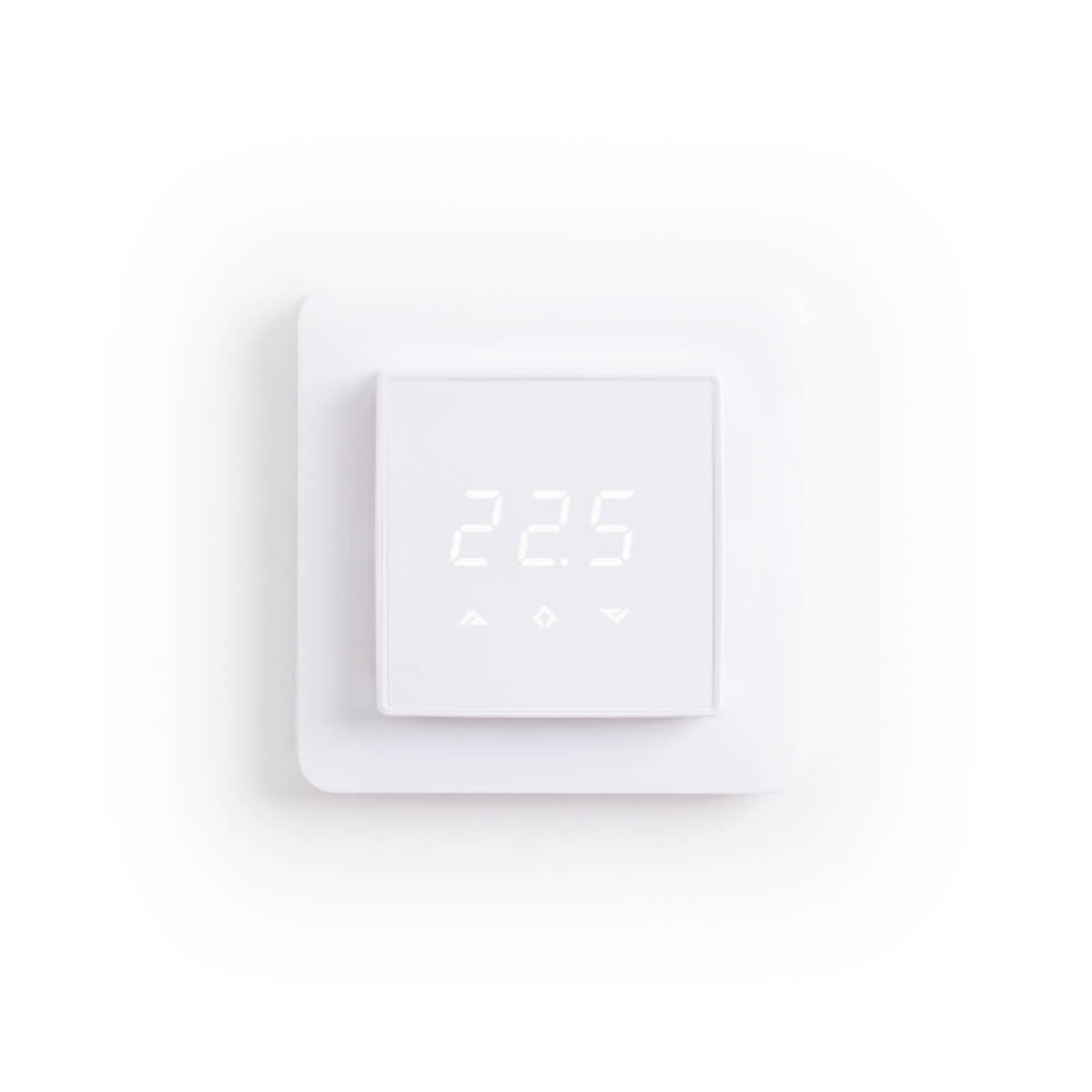 Front View of Powered Room Thermostat